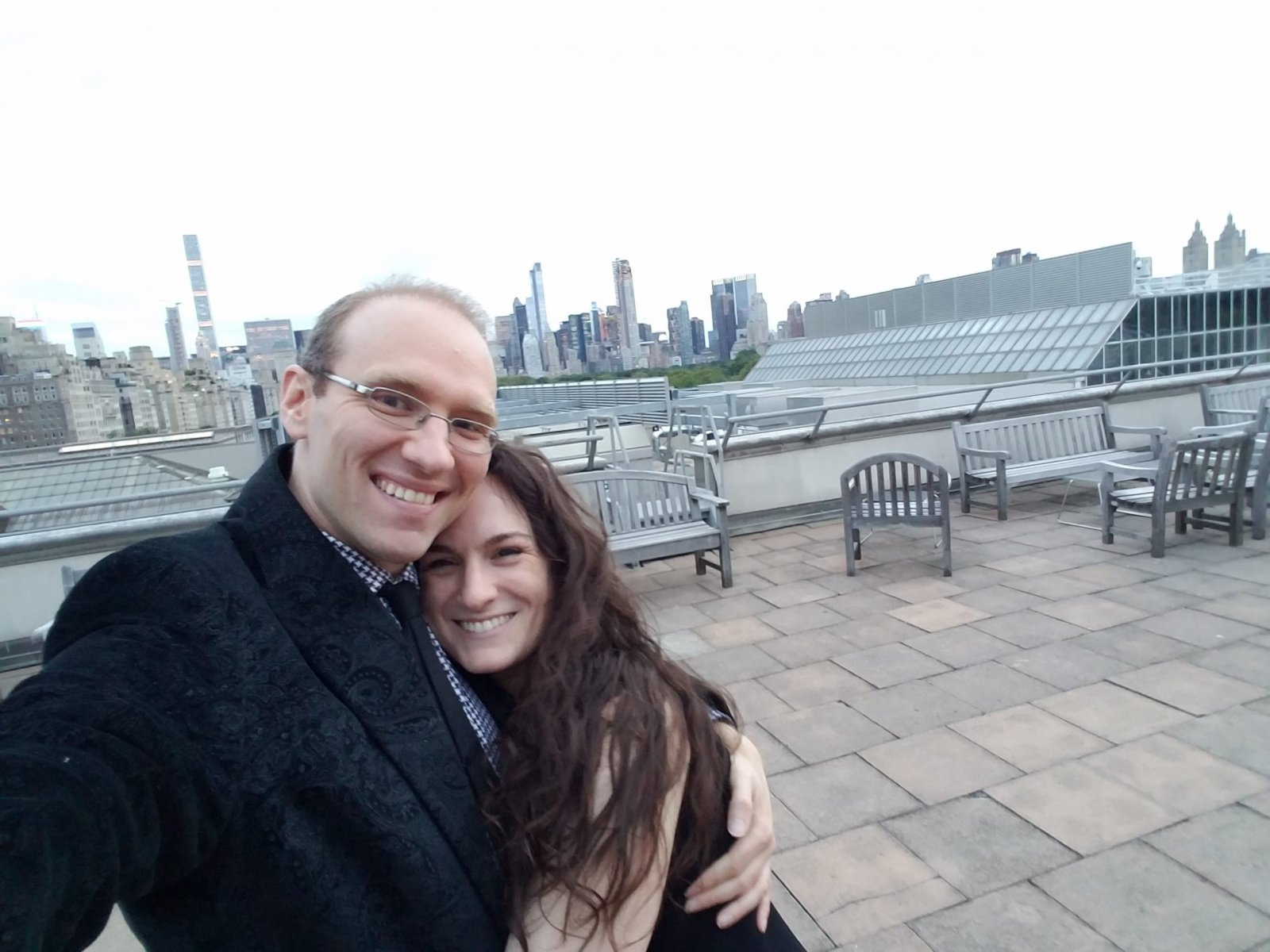 Hanging at the Met Museum Rooftop after an event.